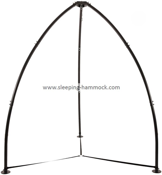 All Weather Steel Portable Rope Tripod Hammock Chair Stand House Charcoal 100 Inches