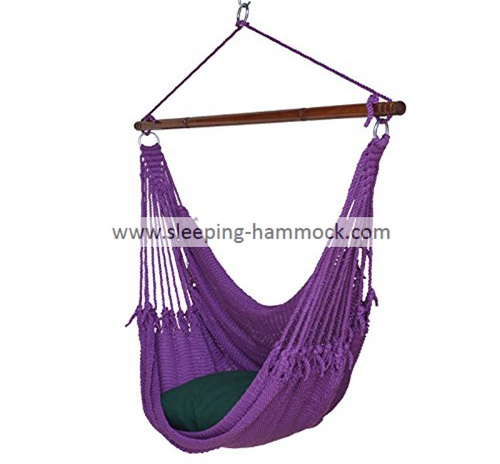 Kids / Adults Indoor Outdoor Two Person Caribbean Hammock Chair 275 Pounds Capacity Purple
