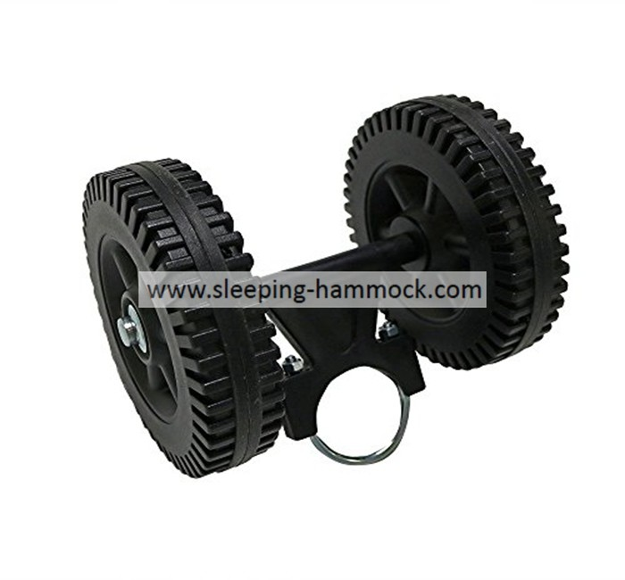 Portable Heavy Duty Black Mobile Plastic Wheels For Hammock Stand Hammock Stand Matched